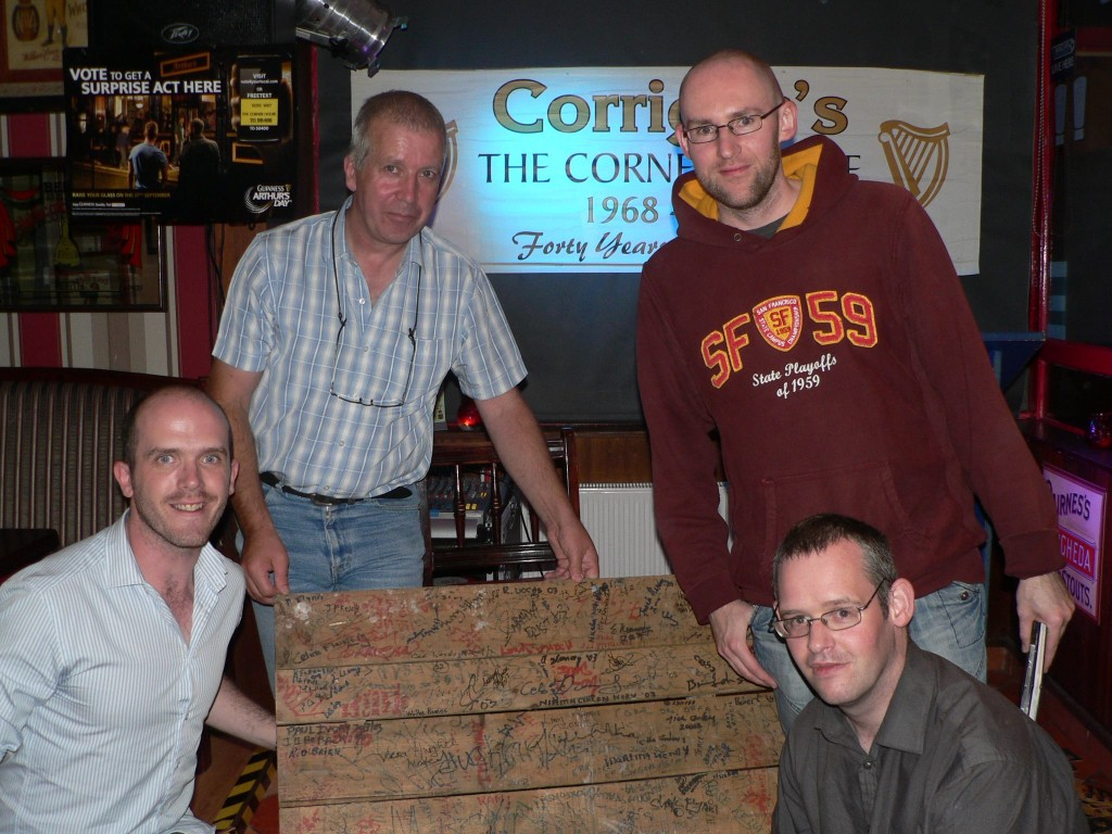 """Tullamore Rhymers Club"" at ""Readings From the Pallet"" in Banagher in 2012"
